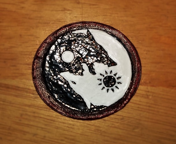 SKOLL and HATI  belt buckle 3D Print 4893
