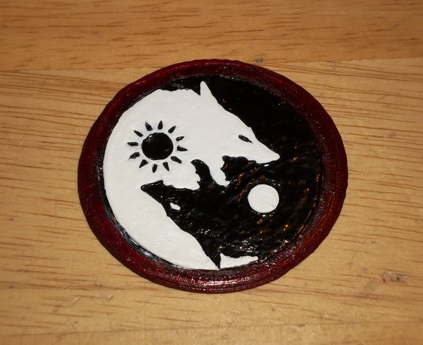 SKOLL and HATI  belt buckle 3D Print 4894