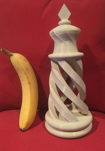 Spiral Chess Set (Large) 3D Print 4922