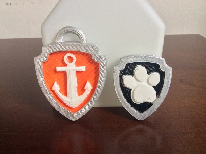 Paw Patrol Badges (Updated 05Jan15) 3D Print 4983