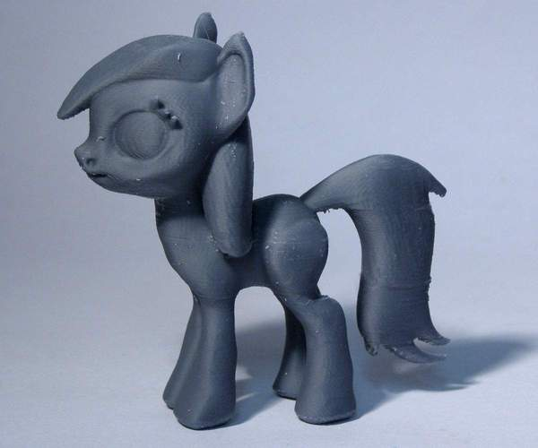 Black Star Pony 3D Print 5126