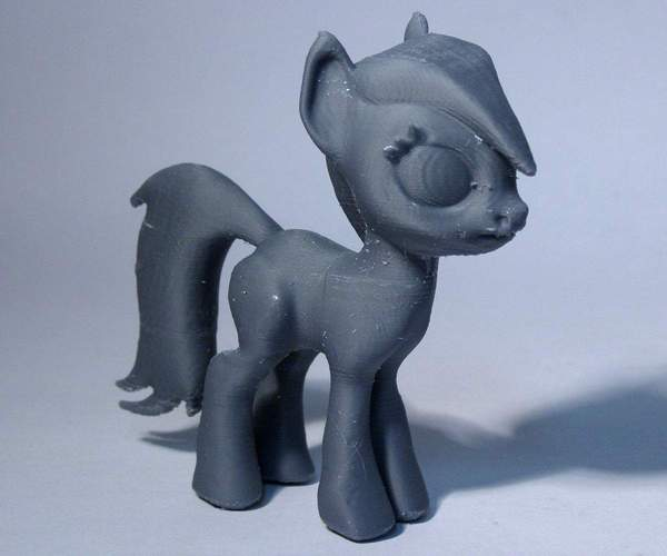 Black Star Pony 3D Print 5128