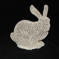 Small Stanford Easter Bunny - Voronoi 3D Printing 5195