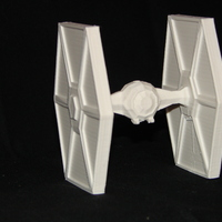 Small Low Poly Tie Fighter - Star Wars 3D Printing 5196