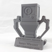 Small Pinshape Awards Trophy 3D Printing 5266