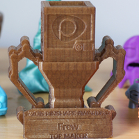 Small Pinshape Awards Trophy 3D Printing 5326