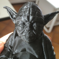 Small Improved Yoda Buddha w/ Lightsaber  3D Printing 5333
