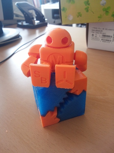 Mini Maker Faire Robot Action Figure 3D Print 5447