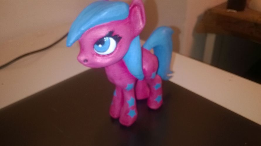 Black Star Pony 3D Print 5453