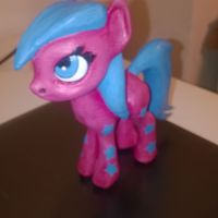 Small Black Star Pony 3D Printing 5453