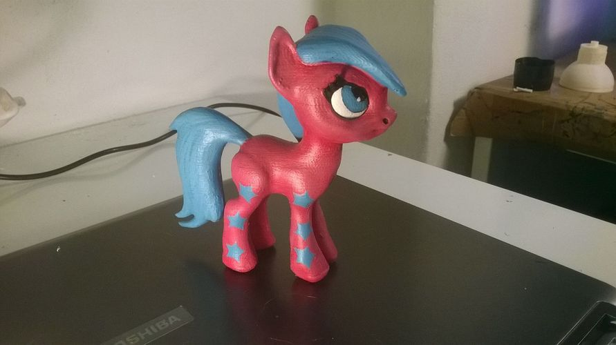 Black Star Pony 3D Print 5454