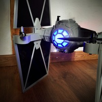 Small StarWars TieFighter - 250 Racer Style 3D Printing 5465