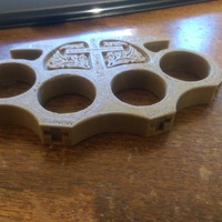 Small Holy Brass Knuckles 3D Printing 5534