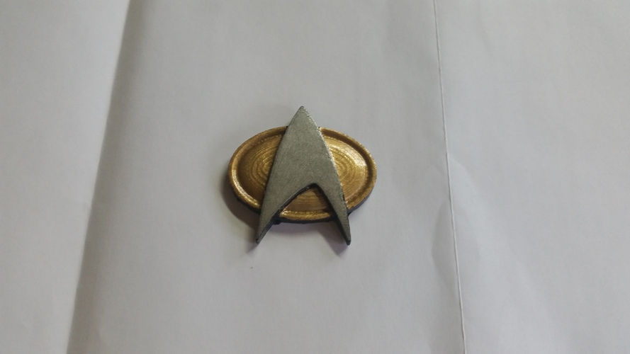 Star Trek Next Generation Communication Badge 3D Print 5574