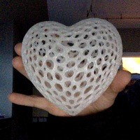 Small Heart - Voronoi Style 3D Printing 5588