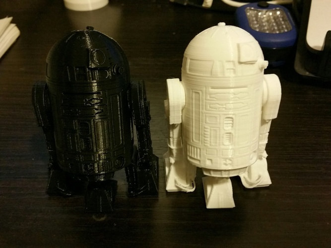 R2D2 Salt and Pepper Shaker 3D Print 5606