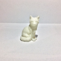 Small Sitting Fox 3D Printing 5643