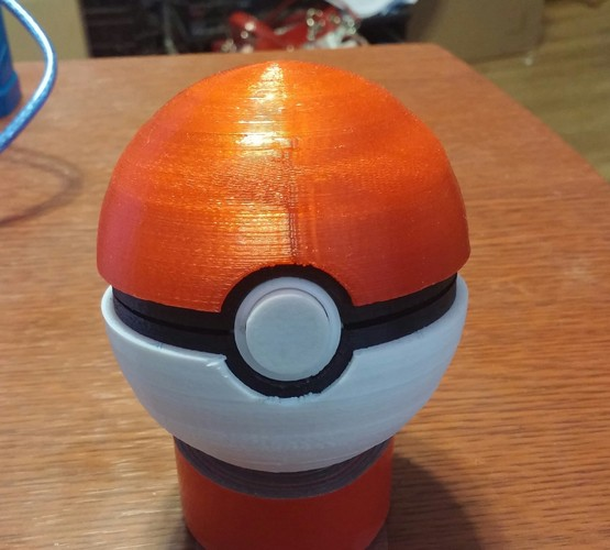 Pokeball (opens and closes) 3D Print 5648