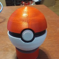 Small Pokeball (opens and closes) 3D Printing 5648