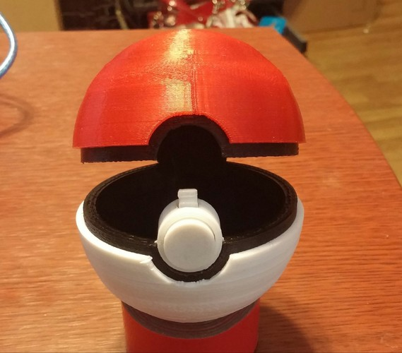 Pokeball (opens and closes) 3D Print 5649