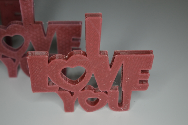 Special Valentine's Day I Love You Keychain Hanger Necklace 3D Print 5742