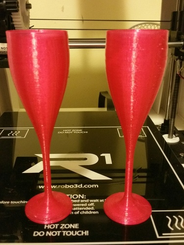 happy new year champagne glass 3D Print 5762