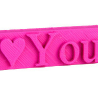 Small I♥YOU USB Flash Drive - Personalised USB 3D Printing 5791