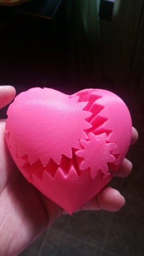 Geared Heart, Motorized Edition -JAY Fix 3D Print 5817