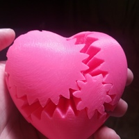 Small Geared Heart, Motorized Edition -JAY Fix 3D Printing 5817