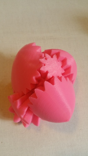 Geared Heart, Motorized Edition -JAY Fix 3D Print 5818