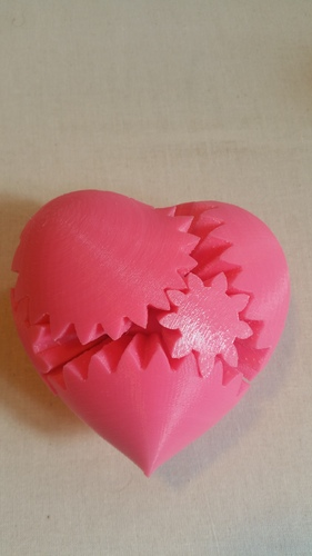 Geared Heart, Motorized Edition -JAY Fix 3D Print 5820