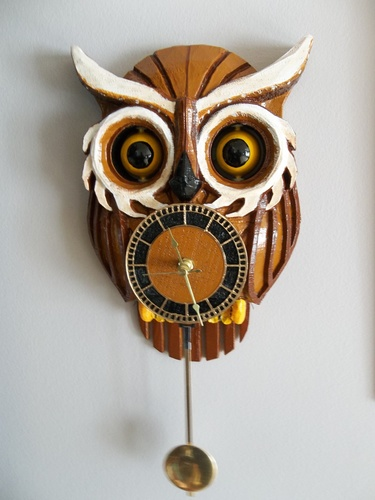 OWL CLOCK with moving eyes 3D Print 5930