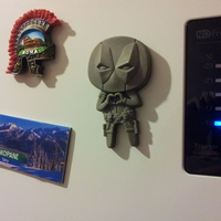 "Small Deadpool ""Feel The Love"" Magnet 3D Printing 6082"