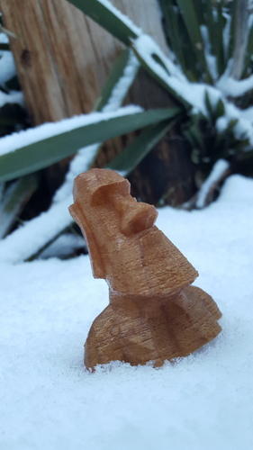 Low Poly Moai 3D Print 6160