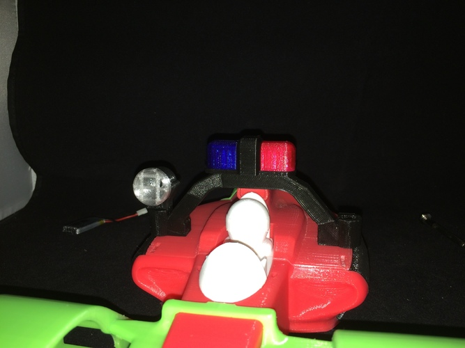 LED police light rack for the open rc formula 1 car 3D Print 6179