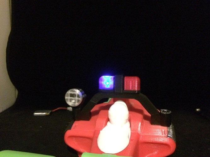 LED police light rack for the open rc formula 1 car 3D Print 6181