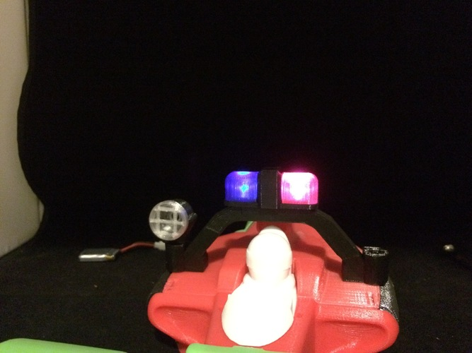 LED police light rack for the open rc formula 1 car 3D Print 6182