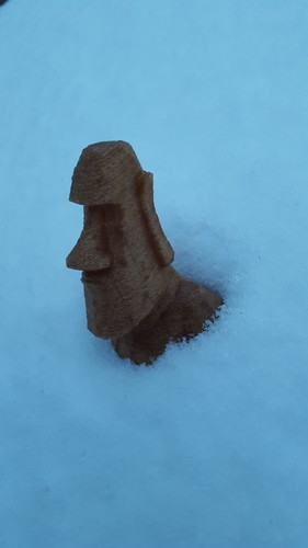 Low Poly Moai 3D Print 6184