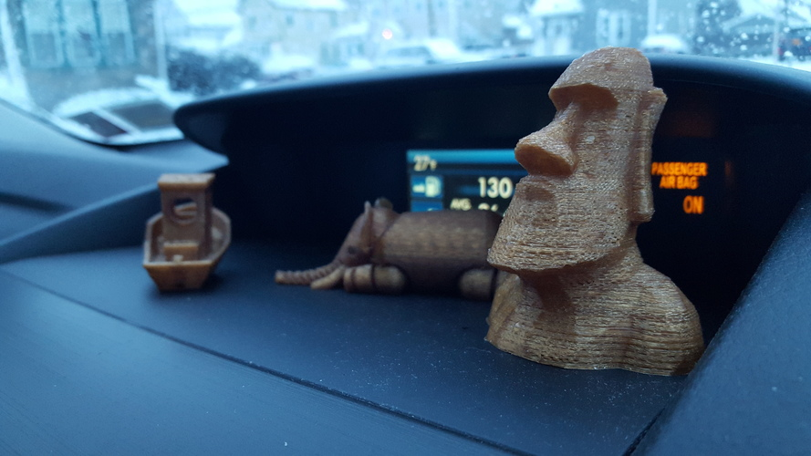 Low Poly Moai 3D Print 6186