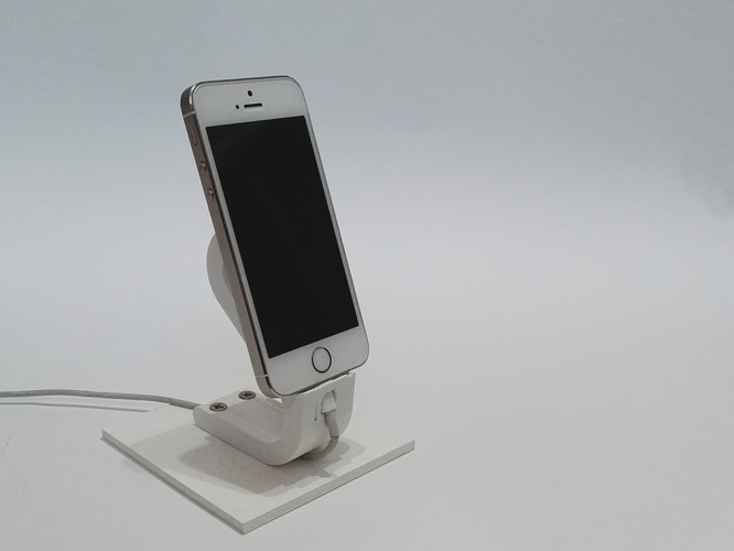 The Ess, Apple Lightning Cord Charging Dock for iPhone 5/5S/ 3D Print 6199
