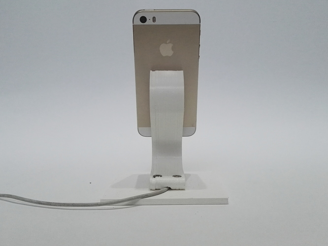 The Ess, Apple Lightning Cord Charging Dock for iPhone 5/5S/ 3D Print 6202
