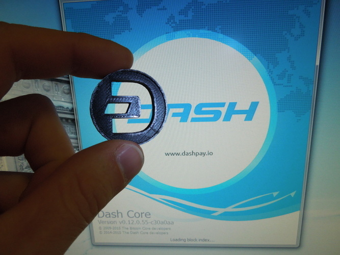 Dash Coin / Logo coin / cryptocurrency 3D Print 6222