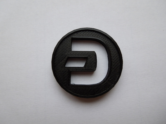 Dash Coin / Logo coin / cryptocurrency 3D Print 6236