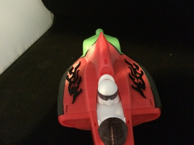 open rc f1  tribal flame body art 3D Print 6245