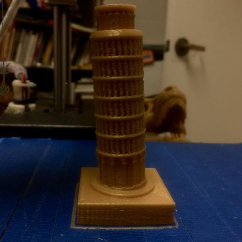 The Leaning Tower of Pisa 3D Print 6254