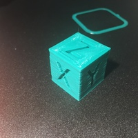 Small XYZ 20mm Calibration Cube 3D Printing 6266