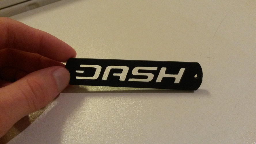 Dash Cryptocurrency keyring 3D Print 6279