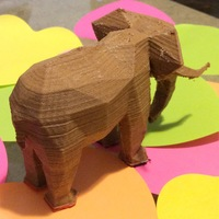 Small Low Poly Elephant Art Sculpture 3D Printing 6323