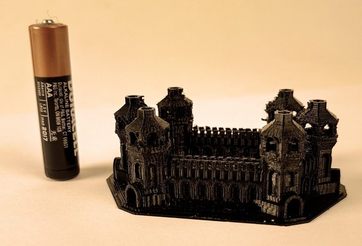Six Tower Castle 3D Print 6559