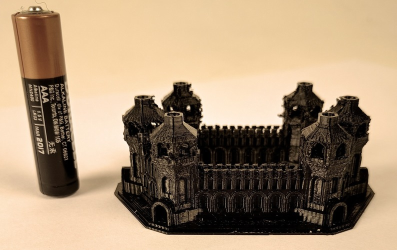 Six Tower Castle 3D Print 6561